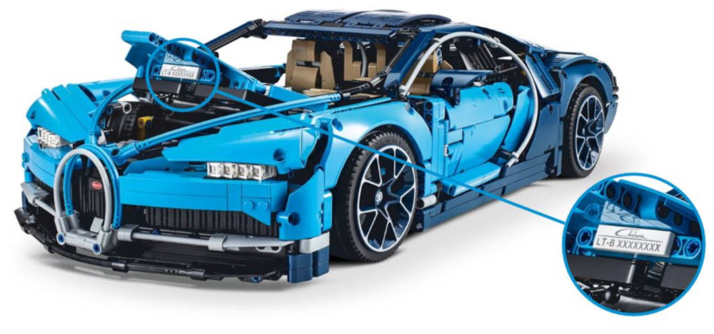 Bugatti Chiron Lego numéro de série