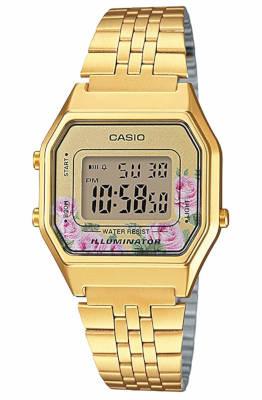 Casio vintage femme rose et or