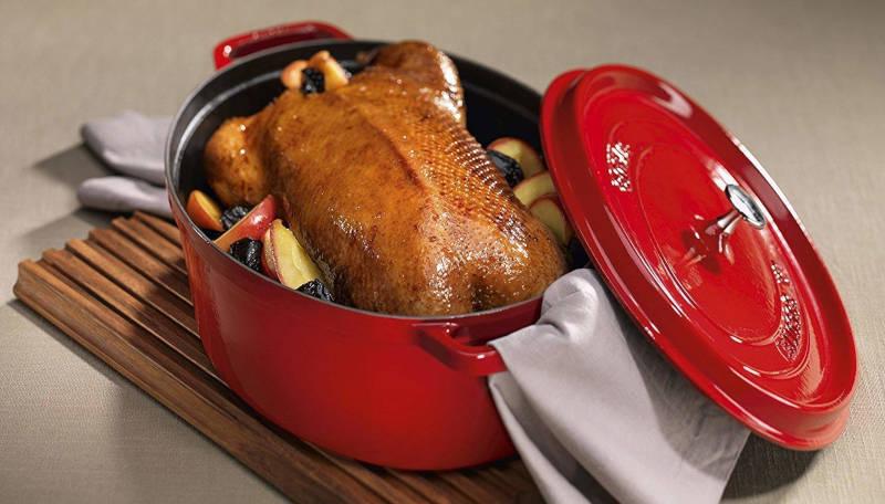 cocotte staub poulet rôti et dinde